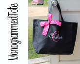 Etsy 4 Personalized Bridesmaid Gift Tote Bag Personalized Tote, Bridesmaids Gift, Monogrammed Tote