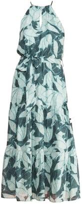 Parker Leonora Palm Tree Breeze Silk Dress