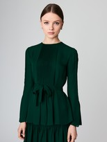 Oscar de la Renta Pleated Silk-Georgette Blouse