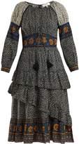 Sea Maya floral-print corset cotton midi dress