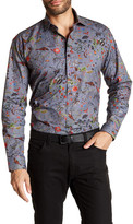 Maceoo Snake Trim Fit Print Sport Shirt