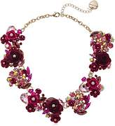 Betsey Johnson Multi- Colored Roses and Stones Statement Necklace