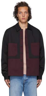 Tiger of Sweden Black and Burgundy Bosse Shirt