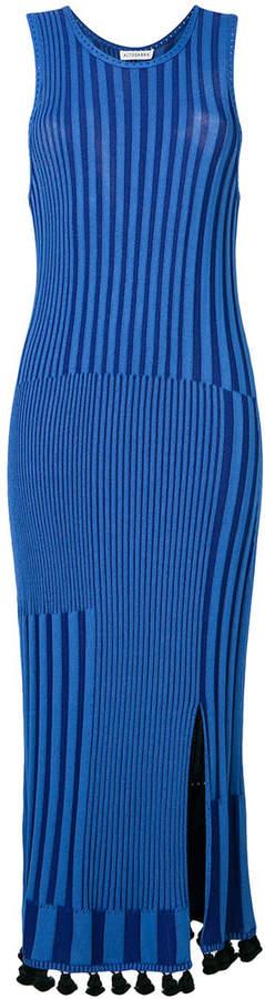 Altuzarra contrast stripe tassel dress