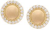 Jamie Wolf 18k Diamond Pave Edge Stud Earrings