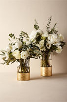 BHLDN Dipped Gold Vase, Tall
