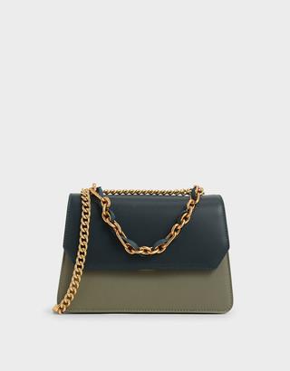 Charles & Keith Swarovski Crystal Embellished Shoulder Bag