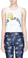 The Upside Crown logo print cropped tank top
