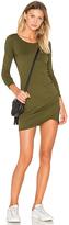 Bobi Supreme Jersey Long Sleeve Ruched Mini Dress