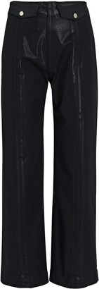 Veronica Beard Brinley Coated High-Rise Jeans