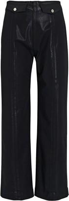 Veronica Beard Brinley High-Rise Coated Jeans