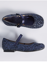 Marks and Spencer Kids' Glitter Cross Bar Shoes