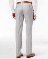 Sean John Men's Big and Tall Classic-Fit Silver/Gray Sharkskin Suit Pants