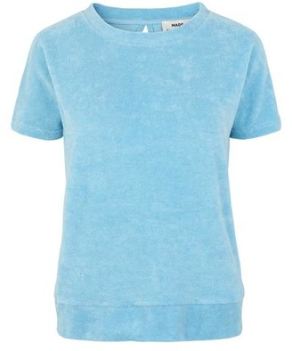Mads Norgaard Cool Organic Sweat Terry Tuvala Blue Top - XS