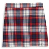 Vineyard Vines Toddler's, Little Girl's & Girl's Holiday Wool Plaid Faux Wrap Skirt