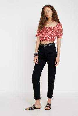 Urban Outfitters Narrated NARRATED Black Mom Jeans - black XS at
