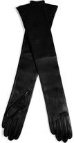 Maison Martin Margiela Leather Gloves in Black