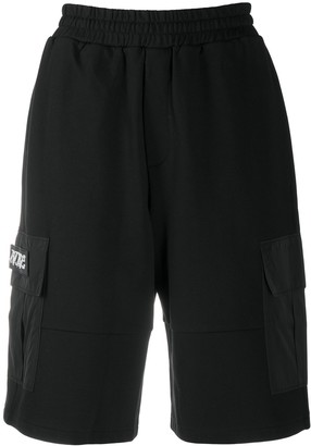 McQ Logo Patch Cargo Shorts