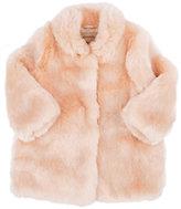 Hucklebones Faux-Fur Coat-PINK