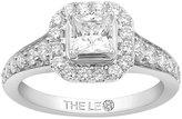Leo Diamond Platinum 1.10ct I I1 Diamond Halo Ring