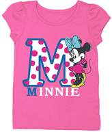 Freeze Hot Pink Minnie Mouse Cap-Sleeve Tee - Toddler & Girls
