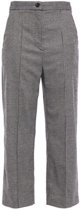 Chalayan Cropped Houndstooth Wool-blend Wide-leg Pants