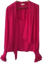 Saint Laurent Pink Silk Top
