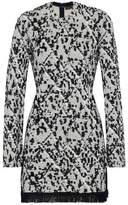 Proenza Schouler Fringe-Trimmed Jacquard-Knit Mini Dress
