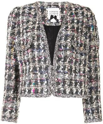Edward Achour Paris Cropped Tweed Jacket