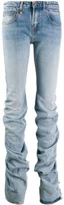 R 13 gathered hem jeans