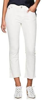 Care Label Women's Cigar Bell Crop 123 Jeans - White