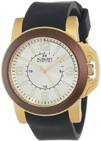 August Steiner Men's AS8057BR Quartz Sport Silicone Strap Watch