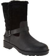 Vionic Orthotic Foldover Fur Trim Ankle Boots - Rosa