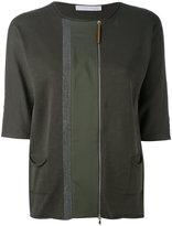 Fabiana Filippi cropped sleeve soft jacket - women - Silk/Cotton/Spandex/Elastane - 44
