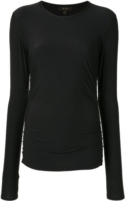 ALALA ruched long-sleeve T-shirt
