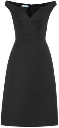 Prada Wool-gabardine midi dress