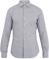 Glanshirt Spread-collar cotton shirt