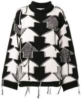 Stella McCartney Check Volume jumper