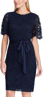 Chaps Women's Flutter Sleeve Lace Dress