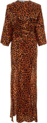 ATTICO The Printed Satin Maxi Dress
