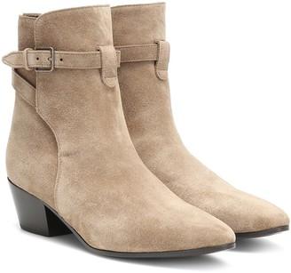 Saint Laurent West Jodhpur 40 suede ankle boots