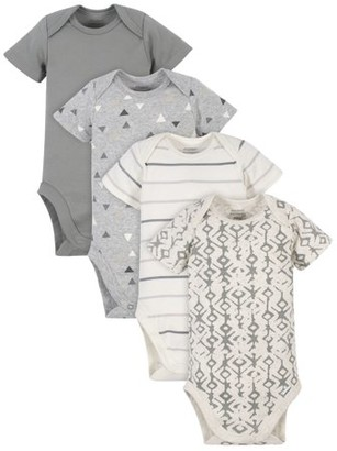 Modern Moments by Gerber Baby Boy Onesies Bodysuits Set, 4-Pack