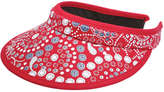 Joe Fresh Women's Print Visor, Red (Size O/S)