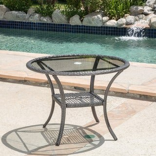 Christopher Knight Home San Pico Outdoor Wicker Dining Table