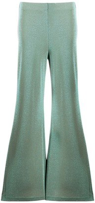 M Missoni jersey knit flared trousers