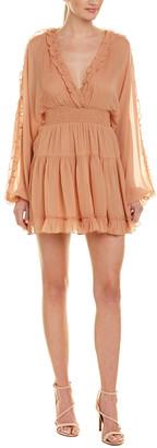 1st Sight Ruffle Midi Dress
