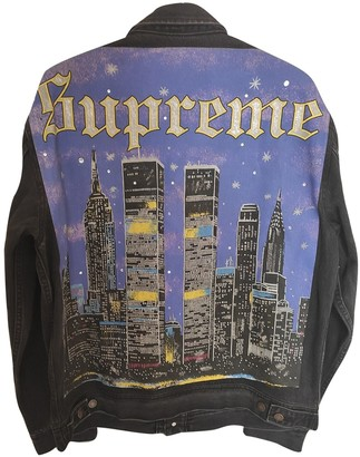 Supreme Black Denim - Jeans Jackets