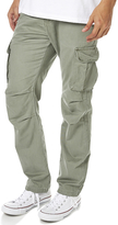 Rusty Eatya 2 Mens Full Cotton Zip And Button Closure Cargo Pants Army