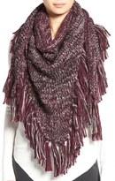 Rebecca Minkoff Chunky Knit Fringe Triangle Scarf