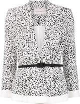 Carolina Herrera dots print peplum jacket - women - Cotton/viscose - 6